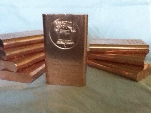 copper bullion bars