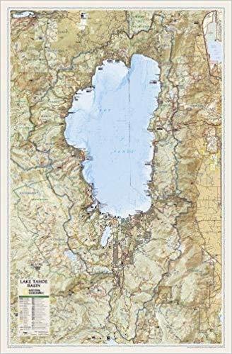 lake tahoe wall map