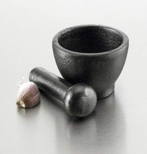 cast iron mortar and pestle
