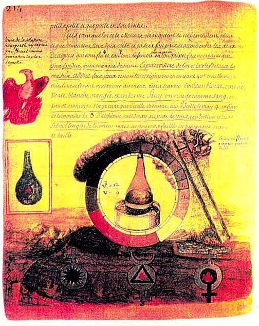 Nicholas Flamel alchemy image