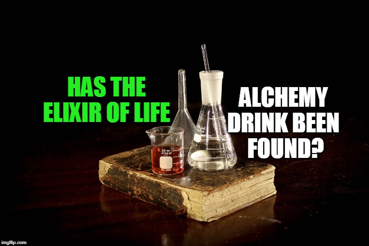 illustration of the elixir of life alchemist drink recipe