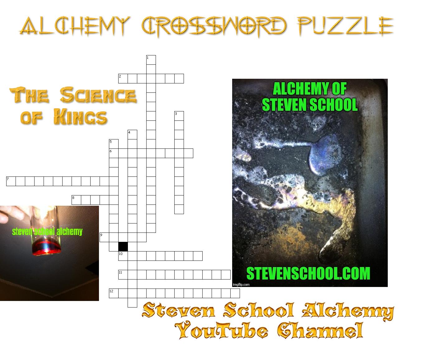 alchemy crossword puzzle