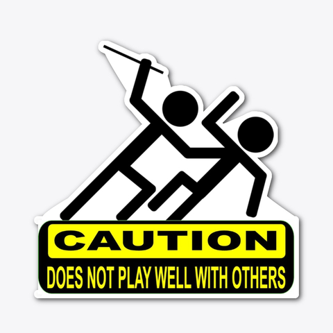 caution warning label decal sticker
