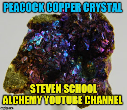 Peacock copper crystal specimen image