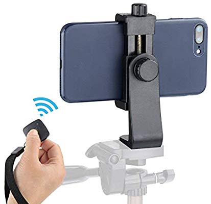 Cell phone tripod adapter for live streaming YouTube videos.